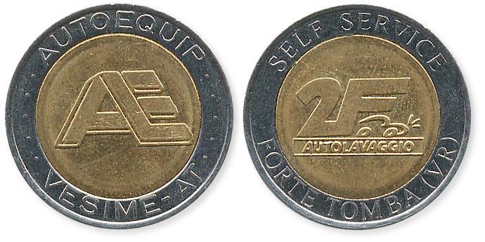 биметаллический жетон agip