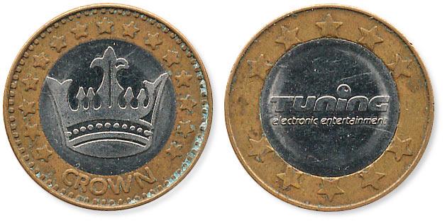 биметаллический жетон crown