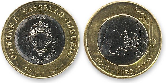 биметаллический жетон евро