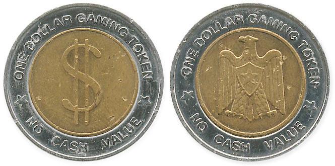 биметаллический жетон one dollar