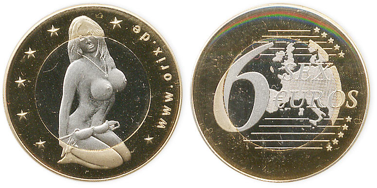 биметаллический жетон sex euros