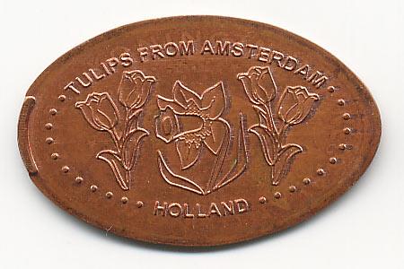 давленная монета Амстердам