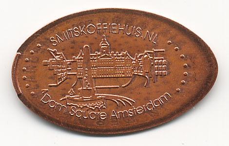 давленная монета Dam square