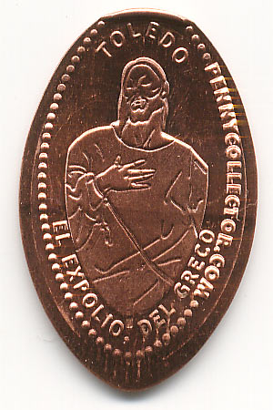 elongated coin Toledo