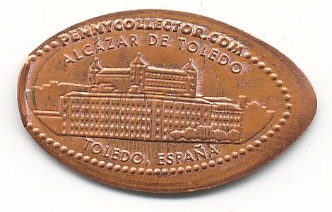 давленная монета Толедо