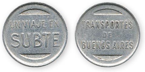 транспортный жетон Буэнос-Айрес