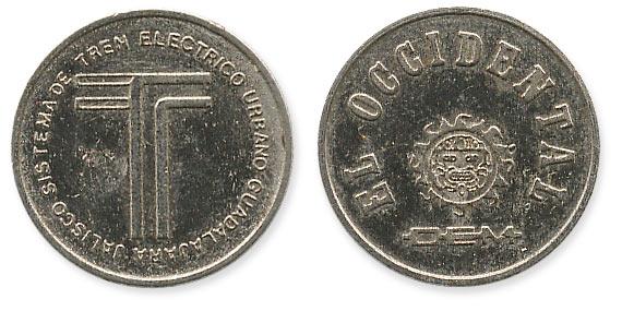 жетон метро Гвадалахара