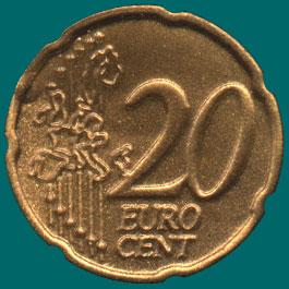 жетон 20 центов