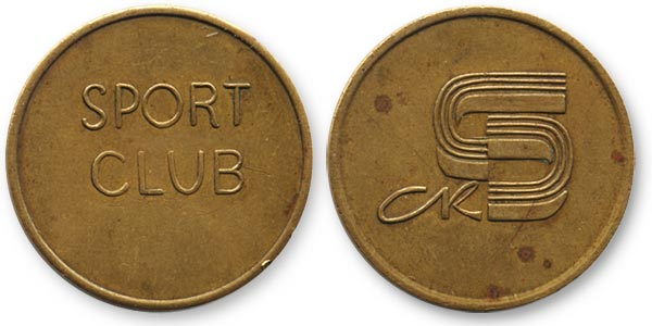 жетон спорт клуб