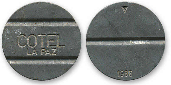 боливийский телефонный жетон