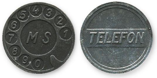 чешский телефонный жетон