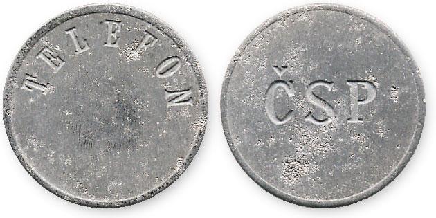 жетон чехословакия