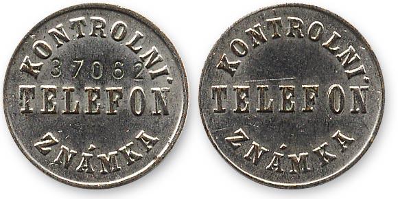 чешский таксофонный жетон