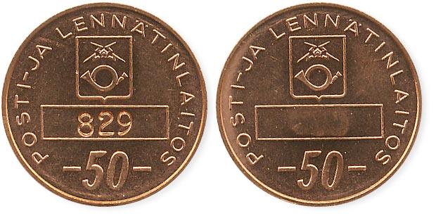 телефонный жетон Финляндии 50 пенни