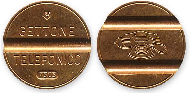 таксофонный жетон Италии