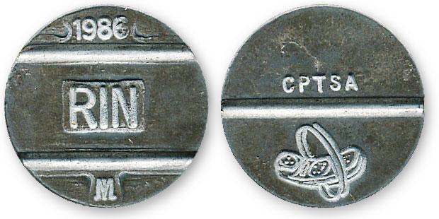 перуанский таксофонный жетон