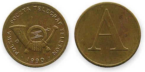 польский телефонный жетон