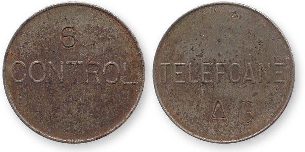 румынский телефонный жетон