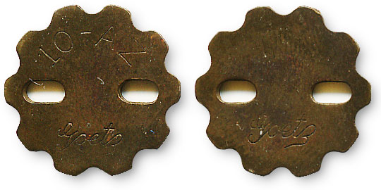 американский жетон с отверстиями
