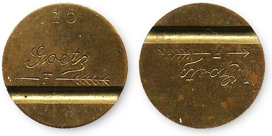 старый американский жетон