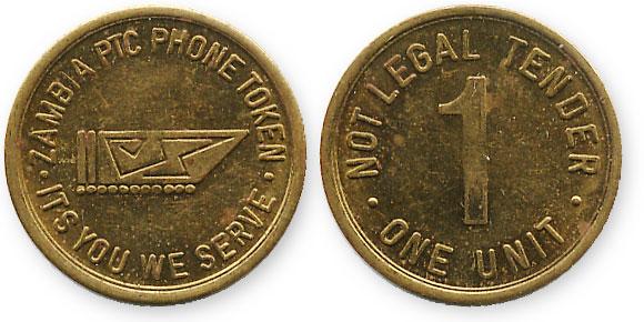 телефонный жетон замбии