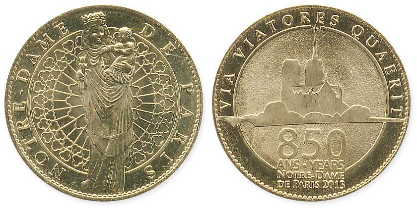 туристический жетон Нотр-дам де Пари 850