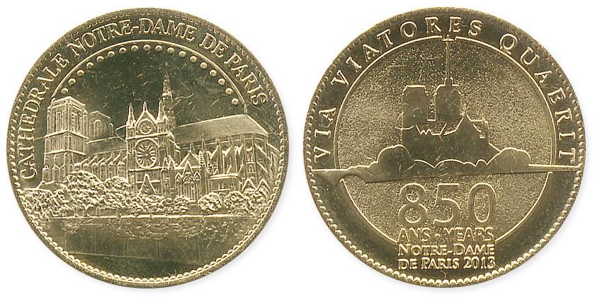 туристический жетон Notre-Dame de Paris 850