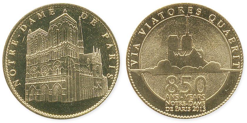 туристический жетон Нотр-дам де Пари 850 лет