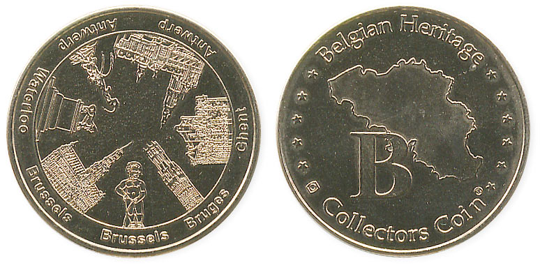 туристический жетон символы Бельгии