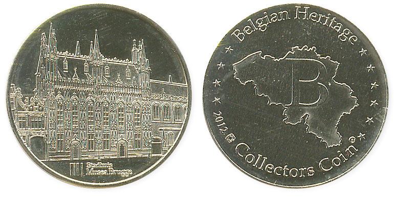туристический жетон Брюгге