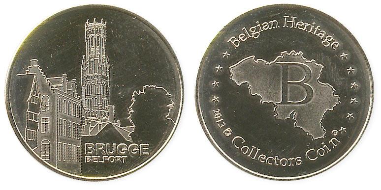 туристический жетон Брюгге Белфорт