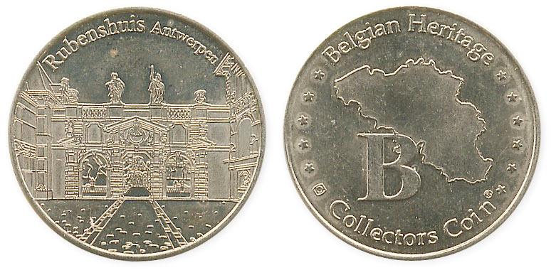 бельгийский жетон дом Рубенса