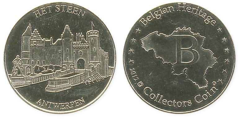 туристический жетон крепость в Антверпене