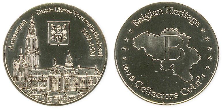 туристический жетон кафедральный собор Антверпена