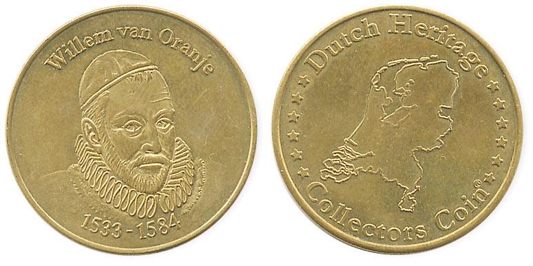 туристический жетон Вильгельм 1 Оранский