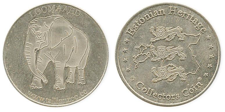 туристический жетон слон