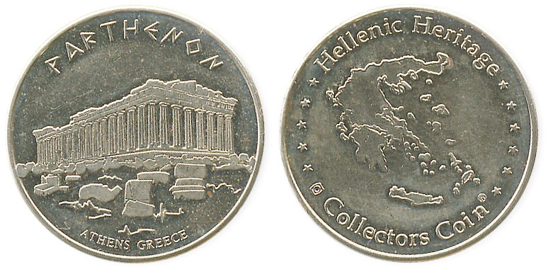 туристический жетон Греции