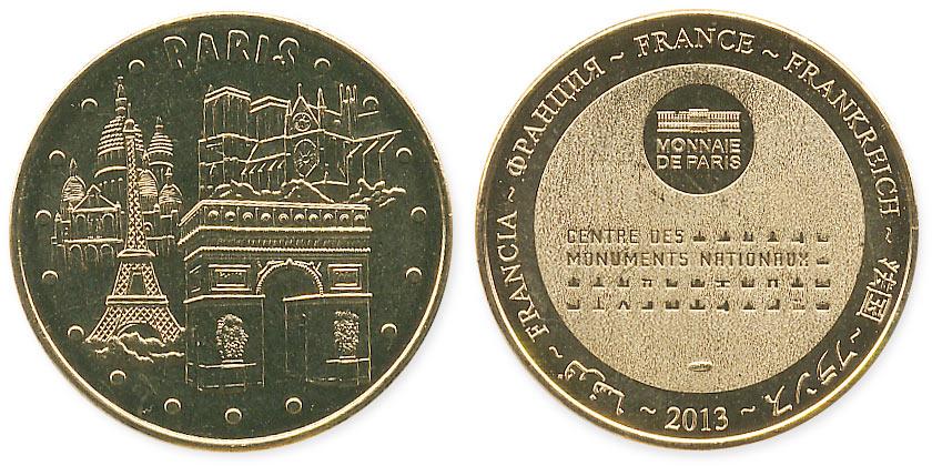 туристический жетон Парижа