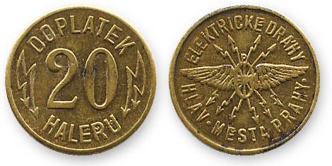 чешский трамвайный жетон