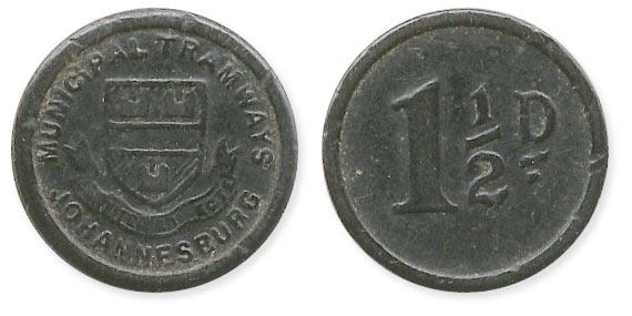 жетон на трамвай Йоханнесбург