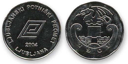 люблянский автобусный жетон