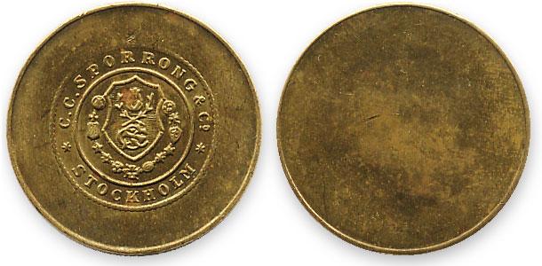 шведский трамвайный жетон