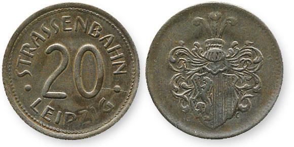 немецкий трамвайный жетон