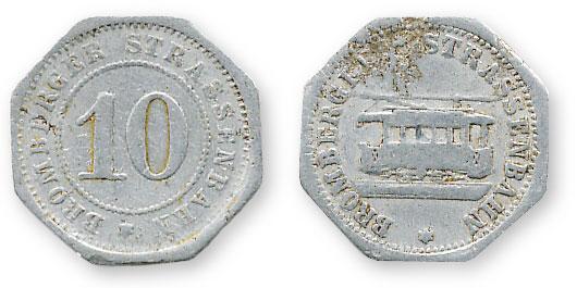 трамвайный жетон германия