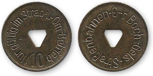 транспортный жетон из Германии