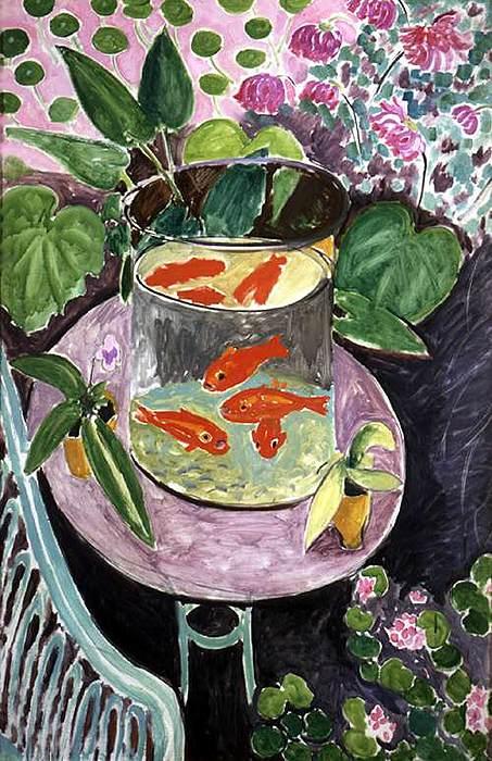 Матисс красные рыбки