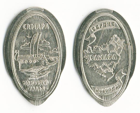 давленная монета Самара