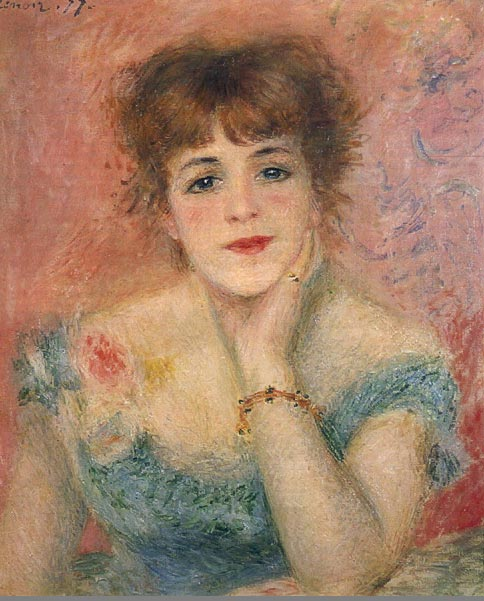 Ренуар, портрет Жанны Самари
