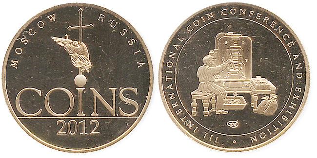 жетон конференции coins 2012 СПМД