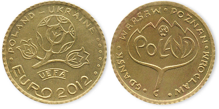 жетон Euro 2012
